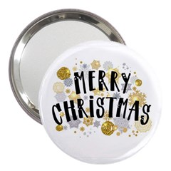 Merry Xmas 3  Handbag Mirror by xmasyancow