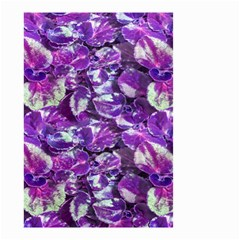 Botanical Violet Print Pattern 2 Small Garden Flag (two Sides) by dflcprintsclothing