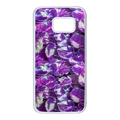 Botanical Violet Print Pattern 2 Samsung Galaxy S7 White Seamless Case by dflcprintsclothing