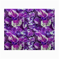 Botanical Violet Print Pattern 2 Small Glasses Cloth by dflcprintsclothing