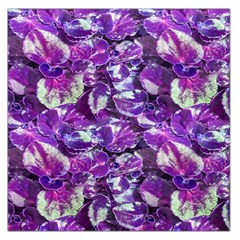 Botanical Violet Print Pattern 2 Large Satin Scarf (square) by dflcprintsclothing