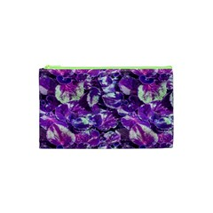 Botanical Violet Print Pattern 2 Cosmetic Bag (xs) by dflcprintsclothing