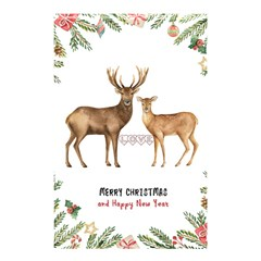 Xmas Shower Curtain 48  X 72  (small) by xmasyancow