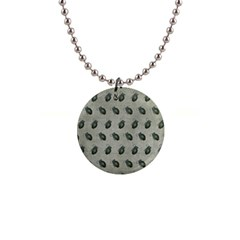 Army Green Hand Grenades 1  Button Necklace