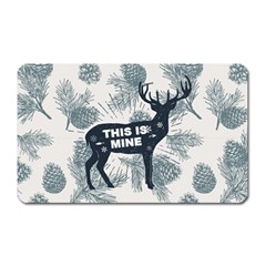 Xmas Deer Magnet (rectangular) by xmasyancow