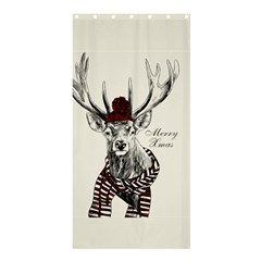 Xmas Deer Shower Curtain 36  X 72  (stall) by xmasyancow