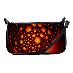 Bubbles Abstract Art Gold Golden Shoulder Clutch Bag by Jojostore