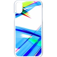 Lines Vibrations Wave Pattern Blue Iphone X Seamless Case (white)