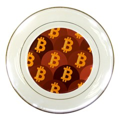 Cryptocurrency Bitcoin Digital Porcelain Plates by HermanTelo