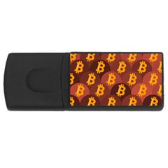 Cryptocurrency Bitcoin Digital Rectangular Usb Flash Drive by HermanTelo