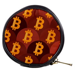 Cryptocurrency Bitcoin Digital Mini Makeup Bag by HermanTelo