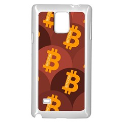 Cryptocurrency Bitcoin Digital Samsung Galaxy Note 4 Case (white)