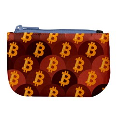 Cryptocurrency Bitcoin Digital Large Coin Purse by HermanTelo