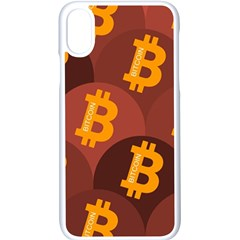 Cryptocurrency Bitcoin Digital Iphone X Seamless Case (white) by HermanTelo