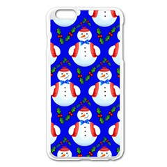 Seamless Snow Cool Iphone 6 Plus/6s Plus Enamel White Case