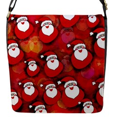 Santa Clause Flap Closure Messenger Bag (s)