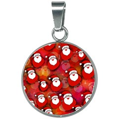 Santa Clause 20mm Round Necklace by HermanTelo