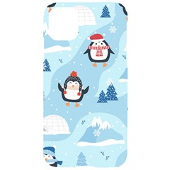 Christmas Seamless Pattern With Penguin Iphone 11 Black Uv Print Case by Vaneshart