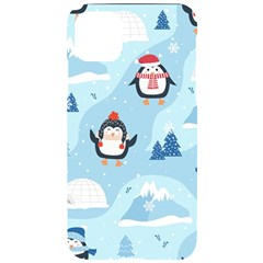 Christmas Seamless Pattern With Penguin Iphone 11 Pro Max Black Uv Print Case