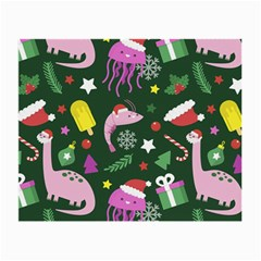 Colorful Funny Christmas Pattern Small Glasses Cloth