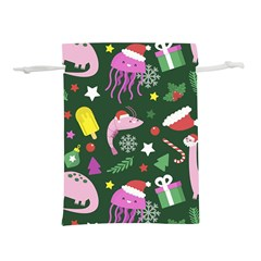 Colorful Funny Christmas Pattern Lightweight Drawstring Pouch (m)