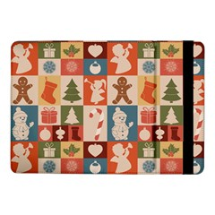 Cute Christmas Seamless Pattern Vector Samsung Galaxy Tab Pro 10 1  Flip Case by Vaneshart