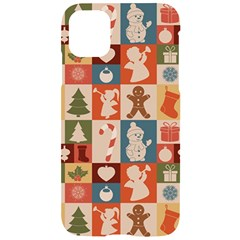 Cute Christmas Seamless Pattern Vector Iphone 11 Black Uv Print Case
