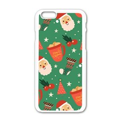 Colorful Funny Christmas Pattern Iphone 6/6s White Enamel Case