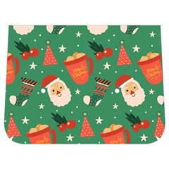 Colorful Funny Christmas Pattern Buckle Messenger Bag