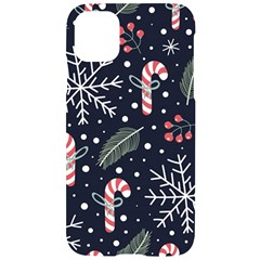 Holiday Seamless Pattern With Christmas Candies Snoflakes Fir Branches Berries Iphone 11 Black Uv Print Case by Vaneshart