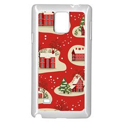 Christmas New Year Seamless Pattern Samsung Galaxy Note 4 Case (white)