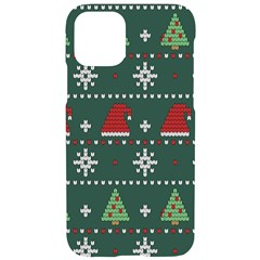 Beautiful Knitted Christmas Pattern Iphone 11 Pro Black Uv Print Case