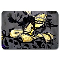 Motion And Emotion 1 2 Large Doormat  by bestdesignintheworld