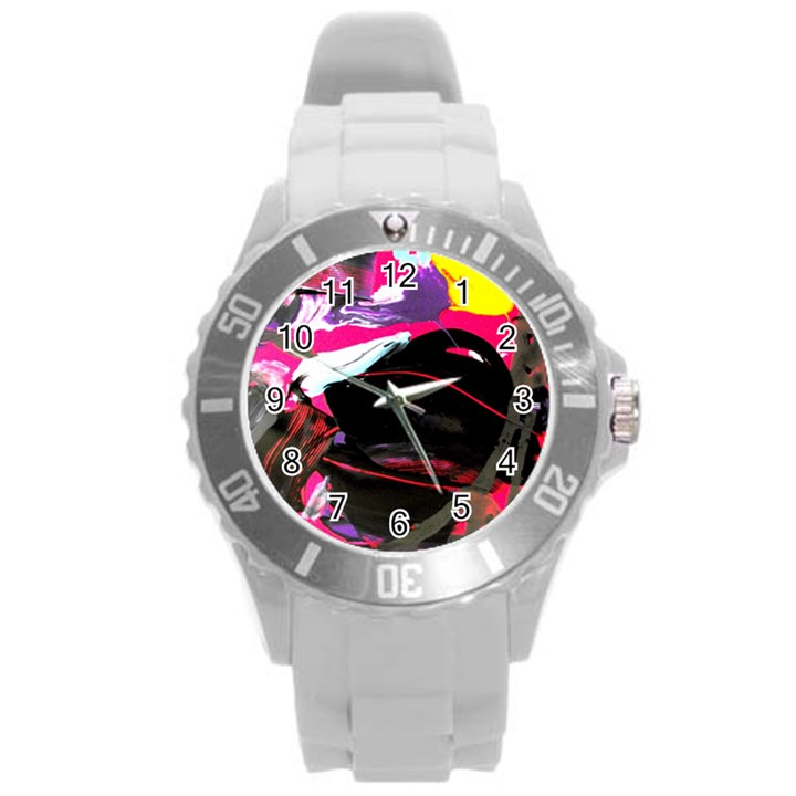 Consolation 1 1 Round Plastic Sport Watch (L)