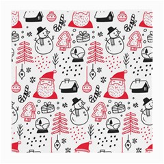 Christmas Themed Seamless Pattern Medium Glasses Cloth by Vaneshart