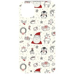 Cute Christmas Doodles Seamless Pattern Iphone 11 Pro Max Black Uv Print Case