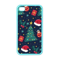 Colorful Funny Christmas Pattern Iphone 4 Case (color)