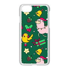 Funny Decoration Christmas Pattern Background Iphone 7 Seamless Case (white)