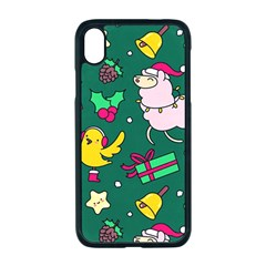 Funny Decoration Christmas Pattern Background Iphone Xr Seamless Case (black) by Vaneshart