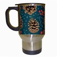 Christmas Seamless Pattern Travel Mugs (white)