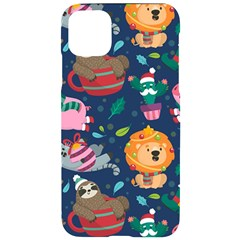 Funny Animal Christmas Pattern Iphone 11 Pro Max Black Uv Print Case