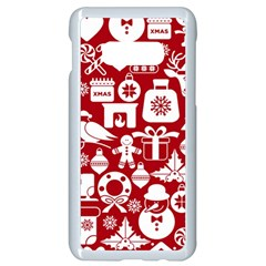 Christmas Seamless Pattern Icons Samsung Galaxy S10e Seamless Case (white)