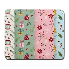 Flat Christmas Pattern Collection Large Mousepads