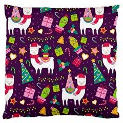 Colorful Funny Christmas Pattern Large Cushion Case (two Sides)
