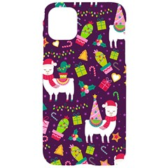Colorful Funny Christmas Pattern Iphone 11 Black Uv Print Case by Vaneshart