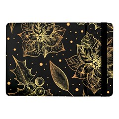 Christmas Pattern With Vintage Flowers Samsung Galaxy Tab Pro 10 1  Flip Case by Vaneshart