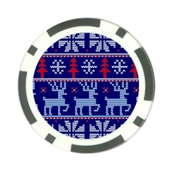 Knitted Christmas Pattern Poker Chip Card Guard