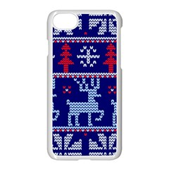 Knitted Christmas Pattern Iphone 7 Seamless Case (white)