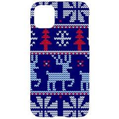 Knitted Christmas Pattern Iphone 11 Black Uv Print Case