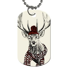 Deer Dog Tag (two-sided)  by xmasyancow